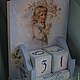 """Календари ручной работы. Ярмарка Мастеров - ручная работа. Купить Календарь """"12 месяцев"""". Handmade. Голубой, календарь, вечный календарь"""