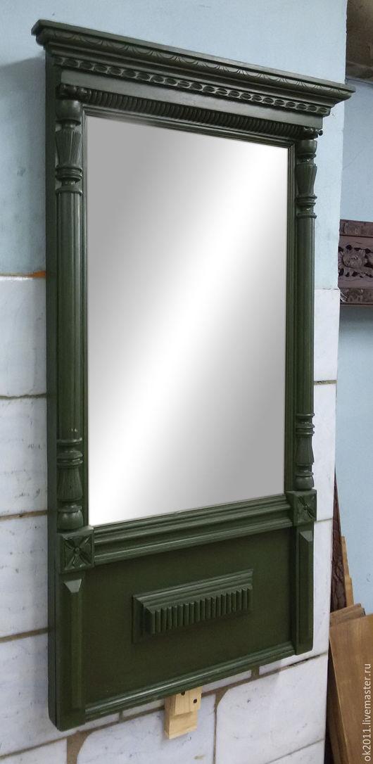 Зеркала ручной работы. Ярмарка Мастеров - ручная работа. Купить Зеркало старинное. Handmade. Тёмно-зелёный, антиквариат, мебель из дерева