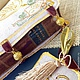 """Подарочная упаковка ручной работы. Подарочный чехол для антикварной книги """"DELPHINI"""". Наталия Сухова (NSDecor). Ярмарка Мастеров. Вышивка машинная"""