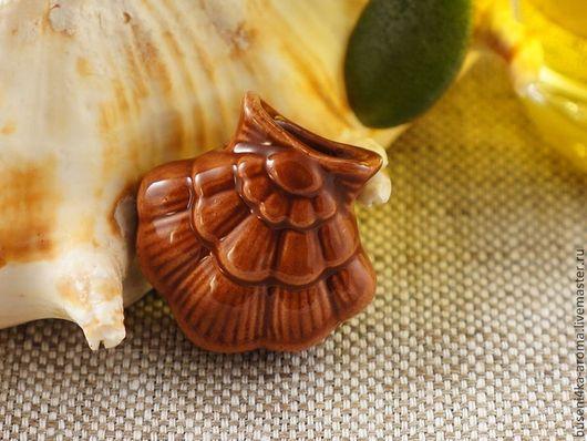 Для украшений ручной работы. Ярмарка Мастеров - ручная работа. Купить Аромакулон керамический №10 (рыжий). Handmade. Аромакулон, ароматерапия
