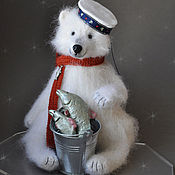 Куклы и игрушки handmade. Livemaster - original item HELLO FROM the WHITE SEA White polar bear. Handmade.