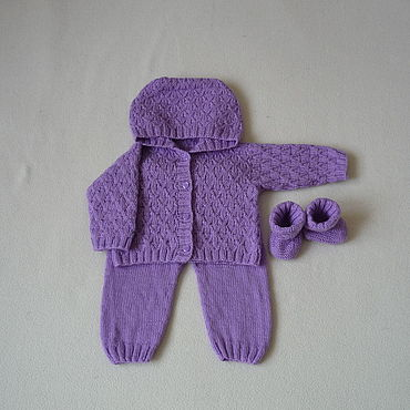 Works for children handmade. Livemaster - original item Clothing Sets: Knitted set for girls. Handmade.