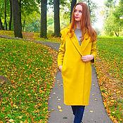 Одежда ручной работы. Ярмарка Мастеров - ручная работа Шерстяное пальто с  кашемиром Осенняя рапсодия. Handmade.