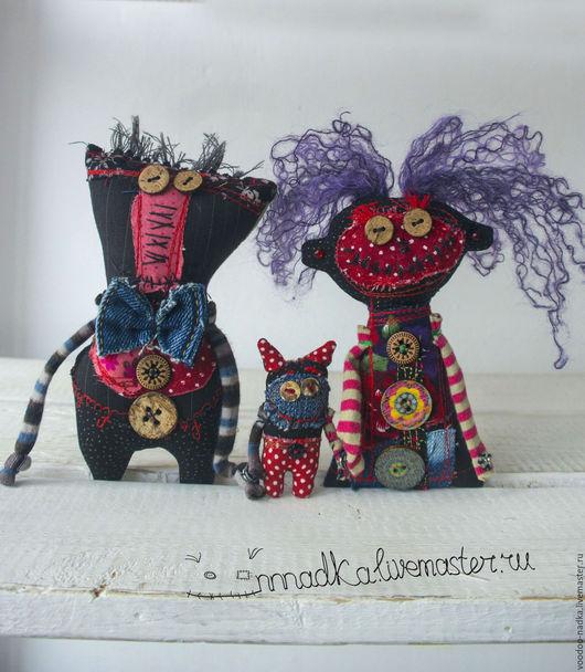 Коллекционные куклы ручной работы. Ярмарка Мастеров - ручная работа. Купить Муж, Жена и Один СОтОна. Handmade. Игрушки, куклы