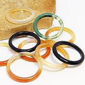 Украшения handmade. Livemaster - original item Set of thin rings 9 PCs Forest river. Handmade.