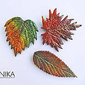 Украшения handmade. Livemaster - original item Set of brooches Autumn leaves. 3 brooches in the form of various autumn leaves. Handmade.