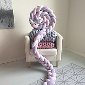 Для дома и интерьера ручной работы. Ярмарка Мастеров - ручная работа Узкая коса-бортик из 3х труб. Handmade.