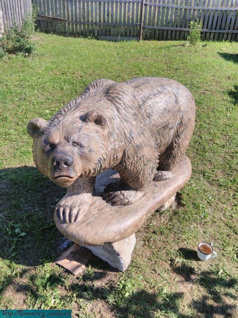 Escultura de Oso de piedra Ural natural calcita, Sculpture, Horde,  Фото №1