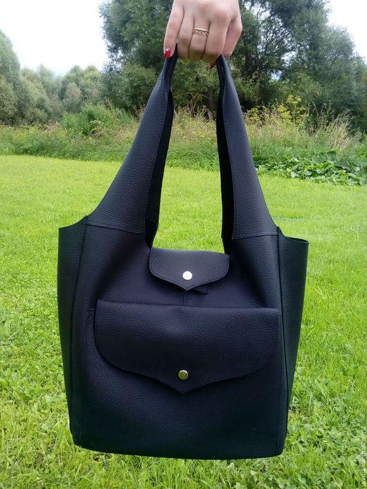 Женские сумки ручной работы. Ярмарка Мастеров - ручная работа. Купить Повседневная черная сумка. Handmade. Черный