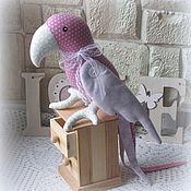 Тильда Зверята ручной работы. Ярмарка Мастеров - ручная работа Попугай текстильный в стиле Тильда. Handmade.