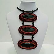 Украшения handmade. Livemaster - original item Necklace-pendant with black agate.. Handmade.