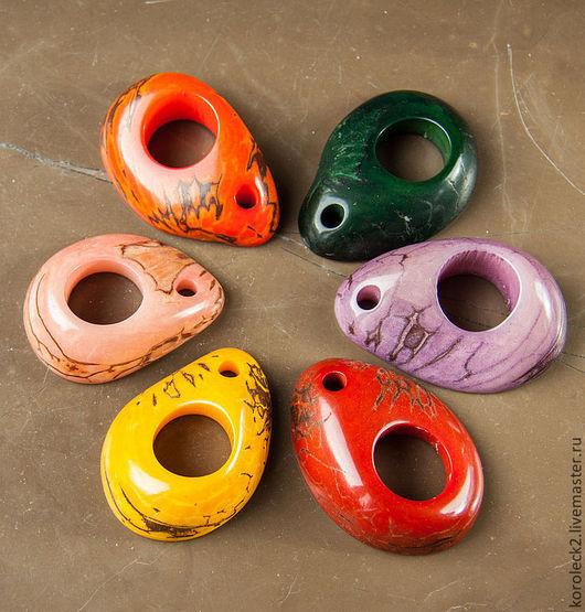 Для украшений ручной работы. Ярмарка Мастеров - ручная работа. Купить Бусины выпуклые с отверстием из ореха тагуа. Handmade. Бусины
