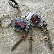 handmade. Livemaster - original item Polychrome tourmaline earrings, silver, gold and Goldfield. Handmade.