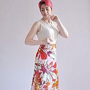Одежда handmade. Livemaster - original item Summer skirt with flowers Magnolia. Handmade.
