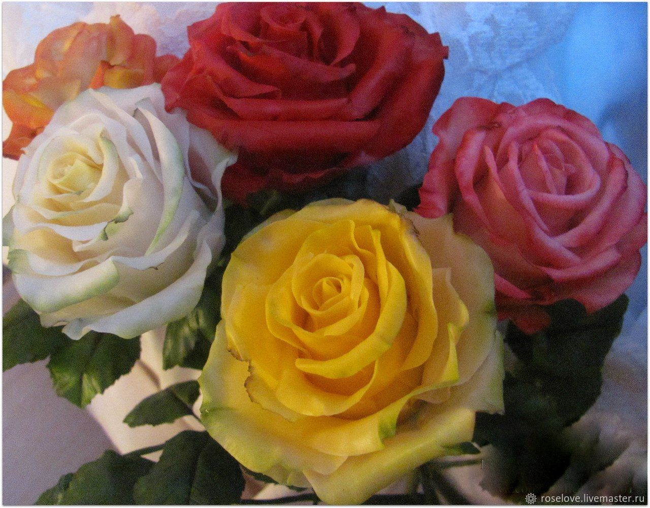 Roses from polymer clay, Flowers, Moscow,  Фото №1