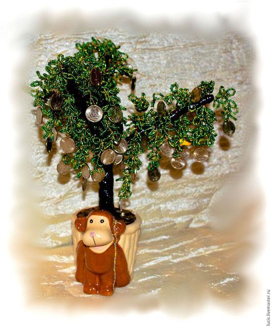 Деревья ручной работы. Ярмарка Мастеров - ручная работа. Купить Денежное дерево. Handmade. Комбинированный, дом, монеты, проволка, копейка