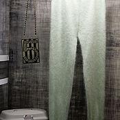 Одежда handmade. Livemaster - original item Mink down leggings Tiffany color. Handmade.