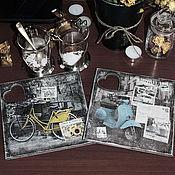 """Подарки к праздникам ручной работы. Ярмарка Мастеров - ручная работа Подставки """"Путешествие для двоих"""". Handmade."""