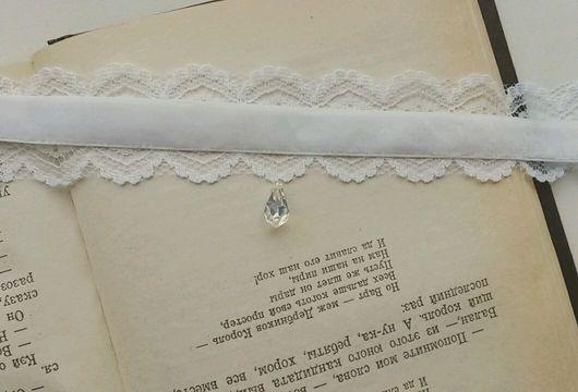 Комплекты украшений ручной работы. Ярмарка Мастеров - ручная работа. Купить Кружевной свадебный комплект украшений (чокер, браслет, кольцо). Handmade.