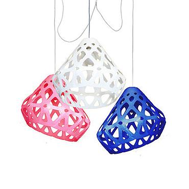 Для дома и интерьера ручной работы. Ярмарка Мастеров - ручная работа ZAHA LIGHT трехцветная трехрожковая люстра 33. Handmade.