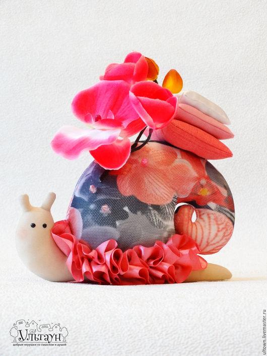 Куклы Тильды ручной работы. Ярмарка Мастеров - ручная работа. Купить Улитка тильда Неторопливая Орхидея улиточка подарок. Handmade.