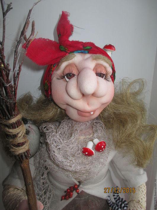 Сказочные персонажи ручной работы. Ярмарка Мастеров - ручная работа. Купить интерьерная кукла оберег бабка Ёжка красавица. Handmade.