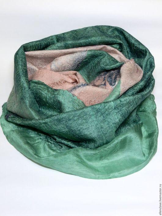 Шарфы и шарфики ручной работы. Ярмарка Мастеров - ручная работа. Купить шарф валяный Загадка леса. Handmade. Разноцветный