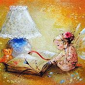 """Картины ручной работы. Ярмарка Мастеров - ручная работа Картина маслом """"Сказки на ночь"""".. Handmade."""