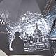 """Зонты ручной работы. Ярмарка Мастеров - ручная работа. Купить """"Шерлок"""" зонт с рисунком ручная роспись по мотивам сериала. Handmade."""