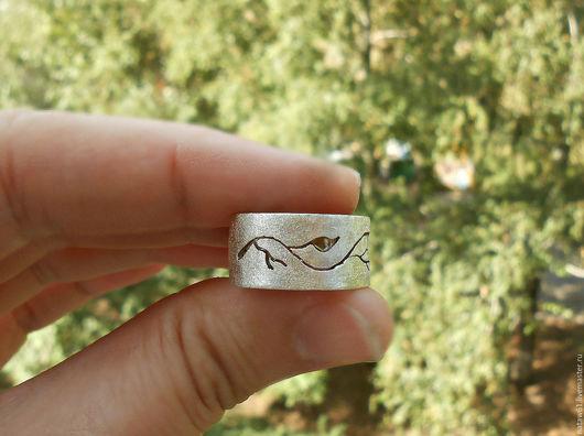 """Кольца ручной работы. Ярмарка Мастеров - ручная работа. Купить Кольцо серебряное """"Лесное"""" (кольцо серебро,кольцо женское,минимализм). Handmade."""