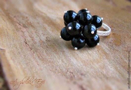 Кольца ручной работы. Ярмарка Мастеров - ручная работа. Купить Серебряное кольцо с черным ониксом. Handmade. Черный, кольцо