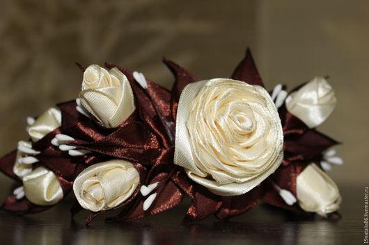 """Заколки ручной работы. Ярмарка Мастеров - ручная работа. Купить Ободок """"Розы"""". Handmade. Украшения ручной работы, комбинированный"""