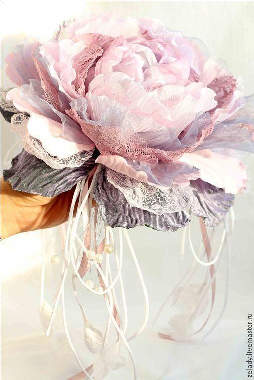 """Цветы ручной работы. Ярмарка Мастеров - ручная работа. Купить Пион из ткани """"Светлый день"""". Handmade. Пион, пояс для платья"""