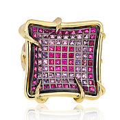 Украшения handmade. Livemaster - original item Gold ring with rubies 3,9 ct and pink sapphires 2,4 ct German Kabi. Handmade.