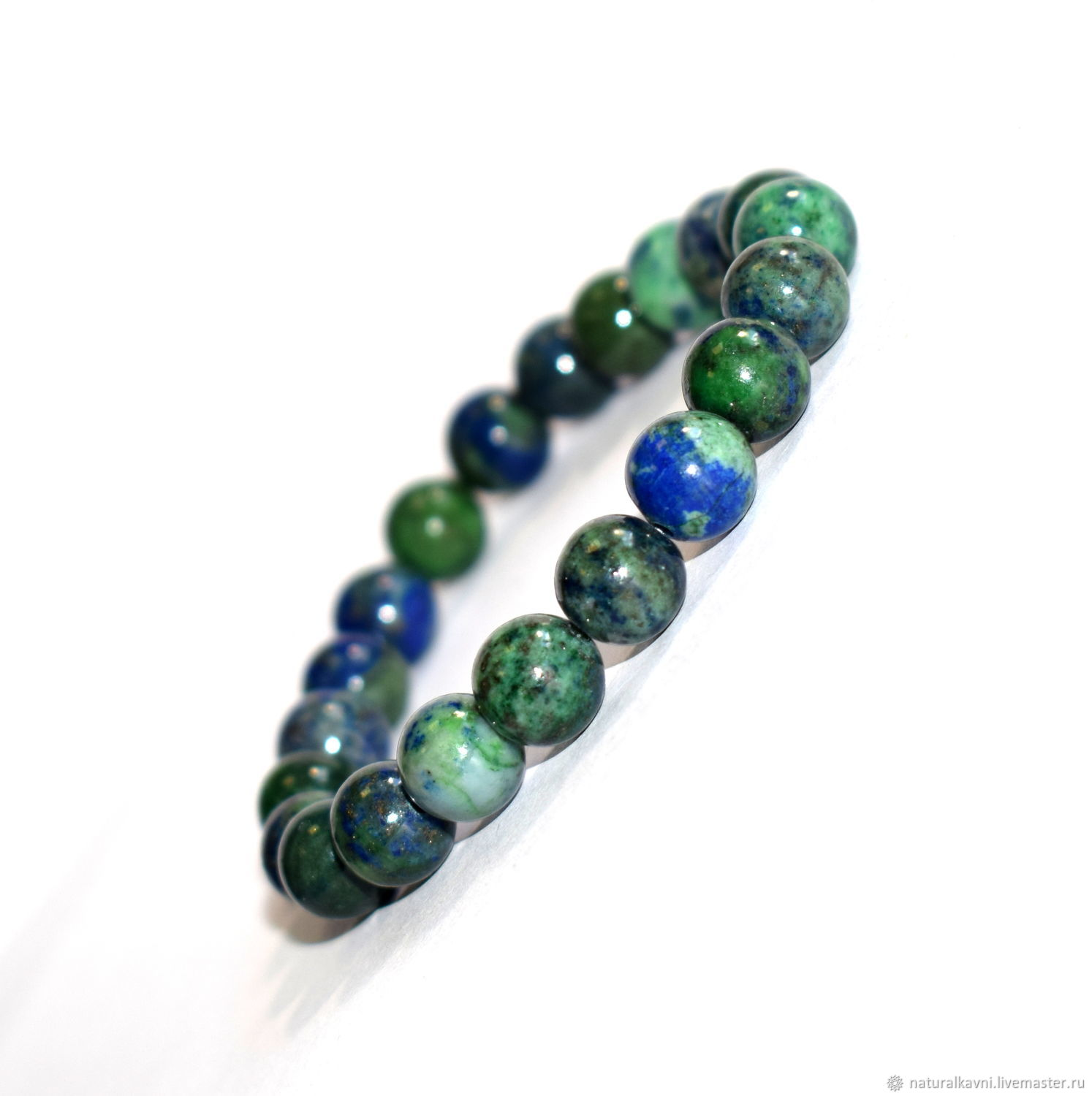 Bracelet made of natural stone azurite, Bead bracelet, Moscow,  Фото №1