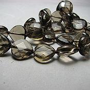 handmade. Livemaster - original item Smoky quartz rauchtopaz carved bead