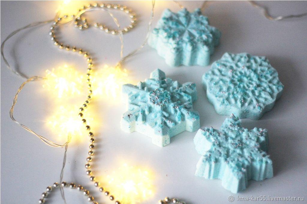 Bath bomb Christmas gift snowflake 2020 year, Bombs, Novye Burasy,  Фото №1