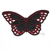 Материалы для творчества handmade. Livemaster - original item Embroidery applique colorful butterfly lace openwork. Handmade.