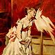 """Люди, ручной работы. Ярмарка Мастеров - ручная работа. Купить Картина маслом """"Девушка с попугаем"""". Handmade. Нежность, девушка"""