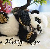 Материалы для творчества ручной работы. Ярмарка Мастеров - ручная работа Видео Мастер Класс панда с открывающимися глазками и ротиком. Handmade.