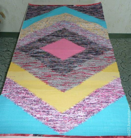 Текстиль, ковры ручной работы. Ярмарка Мастеров - ручная работа. Купить половик. Handmade. Разноцветный, коврик ручной работы, для дачи