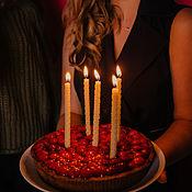 """Свечи ручной работы. Ярмарка Мастеров - ручная работа Свечи: Набор """"Праздничный торт"""". Handmade."""