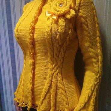 Одежда ручной работы. Ярмарка Мастеров - ручная работа Кофты: Солнечные часы. Handmade.