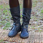 Обувь ручной работы handmade. Livemaster - original item Copy of Boots Loafers black full grain leather. Handmade.