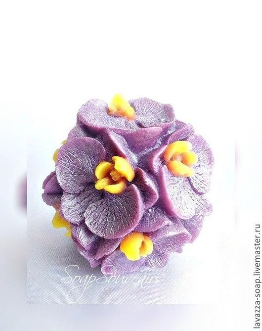 Мыло ручной работы. Ярмарка Мастеров - ручная работа. Купить Мыло Шар Орхидей. Handmade. Разноцветный, цветочный, подарок женщине