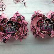 """Резинка для волос ручной работы. Ярмарка Мастеров - ручная работа Резиночки """" Лол на розовой клетке"""". Handmade."""