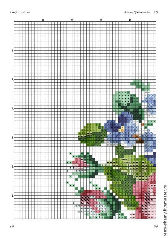 "Схема вышивки ""Весна""."