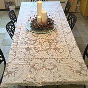 Белоснежная скатерть Алансонское кружево, Франция.