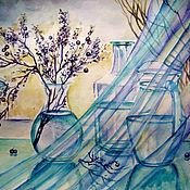 Картины и панно ручной работы. Ярмарка Мастеров - ручная работа Натюрморт прохладный. Handmade.