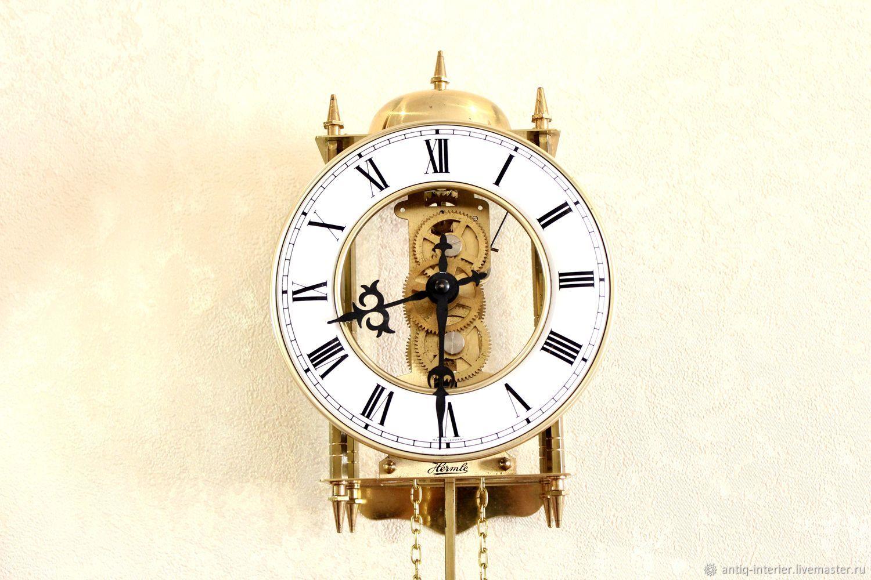 Hermle mechanical wall clock. Germany, Vintage interior, Kaliningrad,  Фото №1